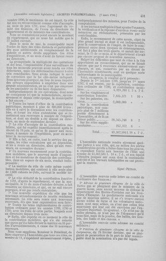 Tome 39 : Du 22 février au 14 mars 1792 - page 431