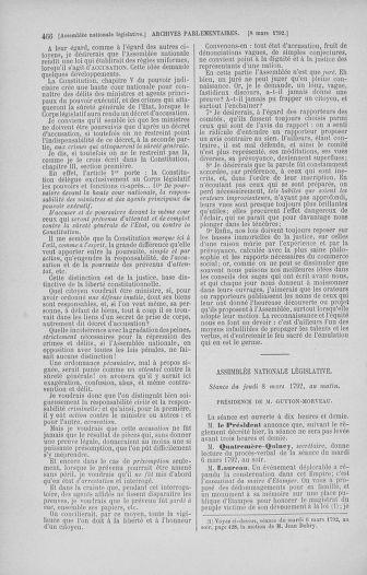 Tome 39 : Du 22 février au 14 mars 1792 - page 466