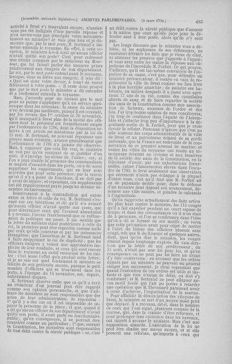 Tome 39 : Du 22 février au 14 mars 1792 - page 483