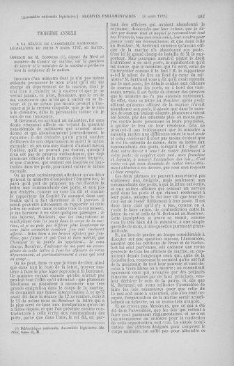 Tome 39 : Du 22 février au 14 mars 1792 - page 487