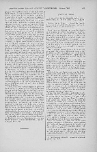 Tome 39 : Du 22 février au 14 mars 1792 - page 489