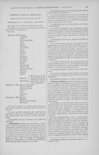 Tome 39 : Du 22 février au 14 mars 1792 - page 495
