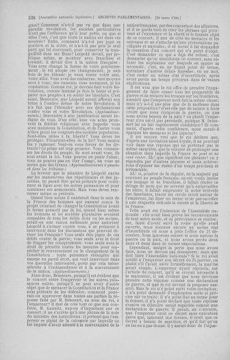 Tome 39 : Du 22 février au 14 mars 1792 - page 538