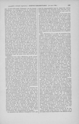 Tome 39 : Du 22 février au 14 mars 1792 - page 539