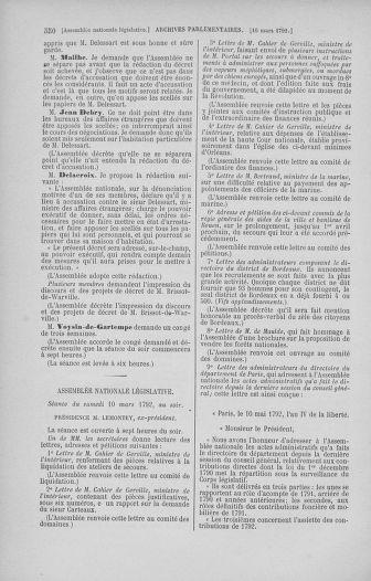 Tome 39 : Du 22 février au 14 mars 1792 - page 550