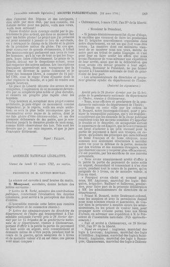 Tome 39 : Du 22 février au 14 mars 1792 - page 589