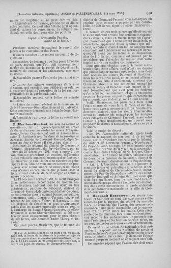 Tome 39 : Du 22 février au 14 mars 1792 - page 613