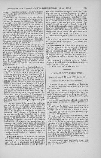 Tome 39 : Du 22 février au 14 mars 1792 - page 621