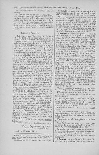 Tome 39 : Du 22 février au 14 mars 1792 - page 622