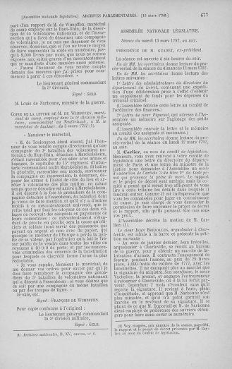 Tome 39 : Du 22 février au 14 mars 1792 - page 677