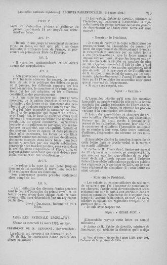 Tome 39 : Du 22 février au 14 mars 1792 - page 719