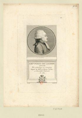 Em.uel Peres de Lagesse avocat né à Boulogne en Comminge député du baill.e de Riviere Verdun a l'Assemblée nationale de 1789 : [estampe]