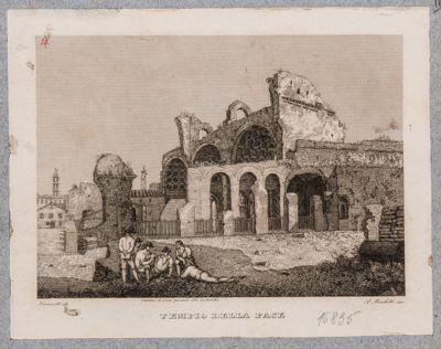 Basilica di Costantino, veduta da S. Francesca Romana