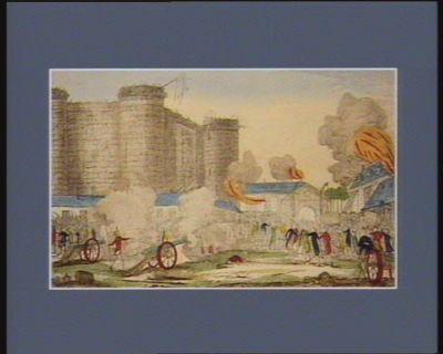 Prise de la Bastille par les bourgeois et les braves Gardes francaises de la bonne ville de Paris, le 14 juillet 1789 [estampe]