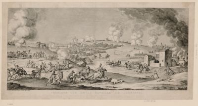 Première vue de la bataille de Jemmappes [estampe]