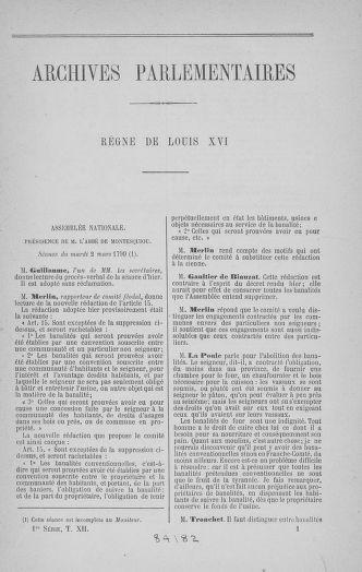 Tome 12 : Du 2 mars au 14 avril 1790 - page 1