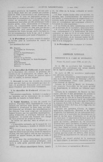 Tome 12 : Du 2 mars au 14 avril 1790 - page 19