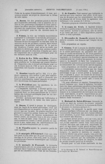 Tome 12 : Du 2 mars au 14 avril 1790 - page 64