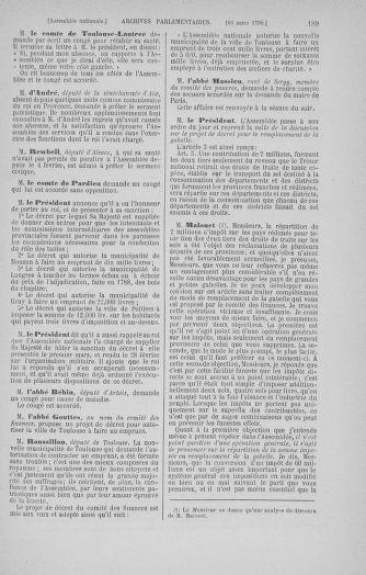 Tome 12 : Du 2 mars au 14 avril 1790 - page 189