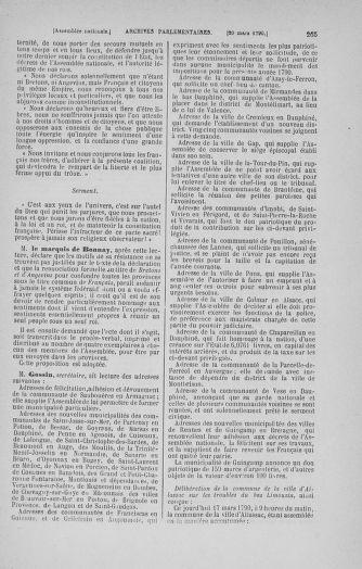 Tome 12 : Du 2 mars au 14 avril 1790 - page 265