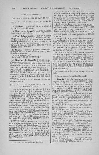 Tome 12 : Du 2 mars au 14 avril 1790 - page 308