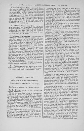 Tome 12 : Du 2 mars au 14 avril 1790 - page 456