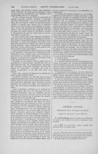 Tome 12 : Du 2 mars au 14 avril 1790 - page 562