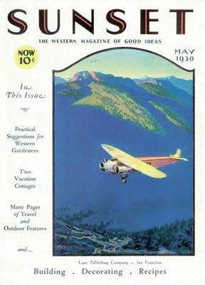 Sunset Magazine cover. May 1930