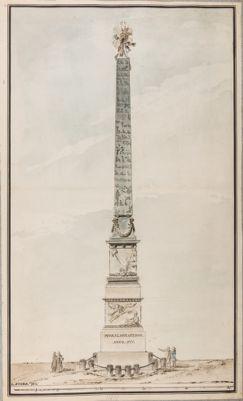 Progetto per l'obelisco di Montecitorio