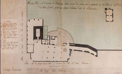 Palatino, pianta della polveriera sita in alcune fabbriche del duca di Montelibretti