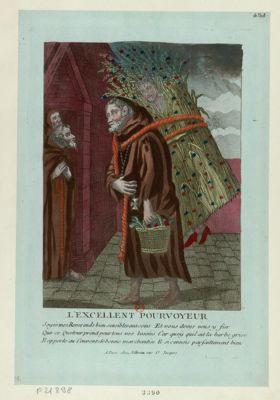 <em>L</em>' Excellent pourvoyeur soyés mes reverends bien sensibles aux soins que ce queteur prend pour tous vos besoins. .. : [estampe]