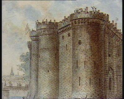 Vue de la Bastille prise de la Galerie faisant face au Boulevard [estampe]