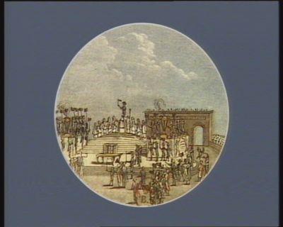 Pacte federatif a l'instant ou M. <em>de</em> La Fayette a prononce le serment Paris 14 juillet 1790 : [estampe]