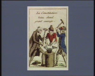 La  <em>Constitution</em> batez chaud grand courage [estampe]