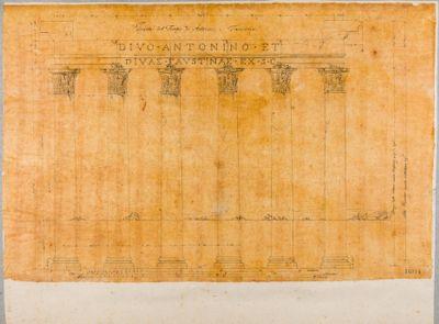 Tempio di Antonino e Faustina, colonnato del pronao