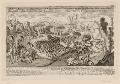 Victoire glorieuse des Allemands prés de Mayne sous le com[m]andement du général en chef Clairfait, le 29 Oc.br. 1795 [estampe]
