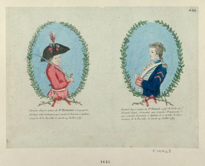 Portrait d'après nature du sr Humbert Portrait d'après nature du sr Harné... : [estampe]