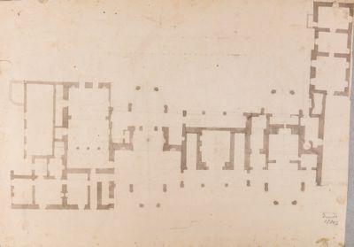 Palatino, pianta della Villa Mills parte del fabbricato più antico
