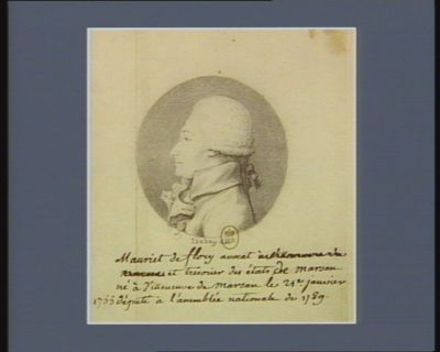 Mauriet de Flory avocat et trésorier des Etats de Marsan né à Villeneuve de Marsan le 21.e janvier 1755 député à l'Assemblée nationale 1789 : [dessin]