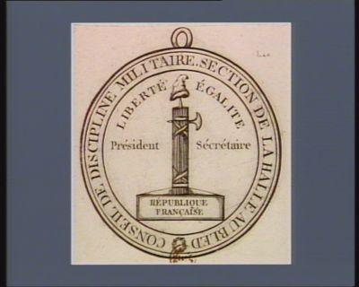 Conseil de discipline militaire, section de la Halle au bled [estampe]