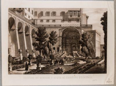 Palazzo del Quirinale. Fontana-organo nel giardino