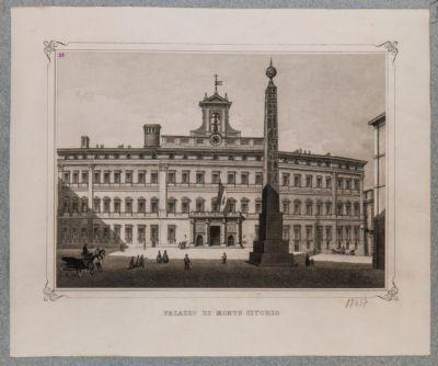 Piazza Monte Citorio, veduta dall'obelisco