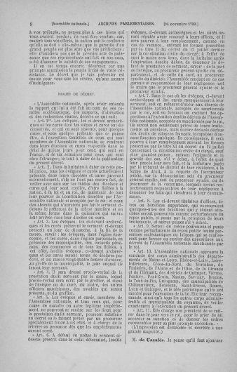 Tome 21 : Du 26 novembre 1790 au 2 janvier 1791 - page 8