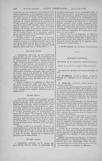 Tome 21 : Du 26 novembre 1790 au 2 janvier 1791 - page 148