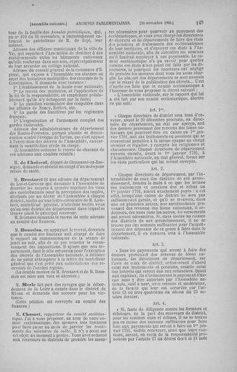 Tome 21 : Du 26 novembre 1790 au 2 janvier 1791 - page 149