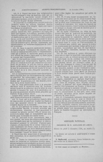 Tome 21 : Du 26 novembre 1790 au 2 janvier 1791 - page 178