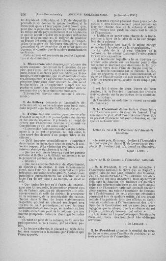 Tome 21 : Du 26 novembre 1790 au 2 janvier 1791 - page 216