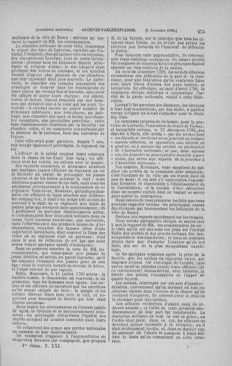 Tome 21 : Du 26 novembre 1790 au 2 janvier 1791 - page 273