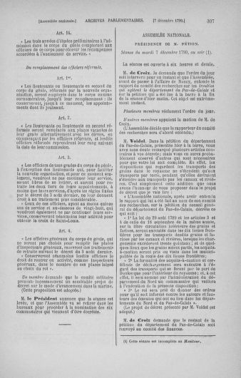 Tome 21 : Du 26 novembre 1790 au 2 janvier 1791 - page 307