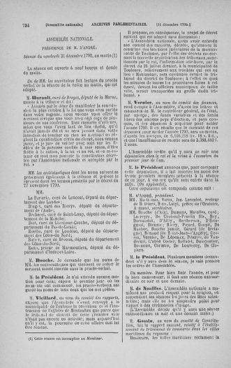 Tome 21 : Du 26 novembre 1790 au 2 janvier 1791 - page 734